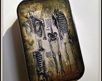 Morbid Anatomy - large pillbox tin / stash case