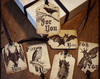 Night Wings Gift Tags - Set of 6