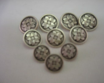 Pewter  Shank Button Lot size is 6   Three sizes are available