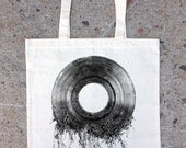 Tote Bag with Vinyl Record Roots