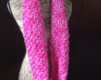 Knit Infinity Scarf, Shawl, Circle Scarf, Hand Painted Wool and Mohair, Womens Gift
