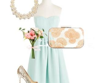 wedding clutch, bridal accessories, weddings, coral bridesmaids clutch, weddings, mint bridesmaids, box clutch, bridesmaid gifts, weddings