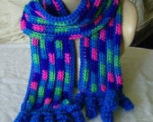 Neon and Bright Colored Scarf for Girls and Teens - Unique Spiral Coil Fringe