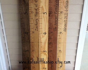 Custom Growth Charts. Giant Ruler. Childrens Growth Chart. HAND PAINTED. Rustic Home Decor. Home Decor. Growth Charts. Wood Ruler.