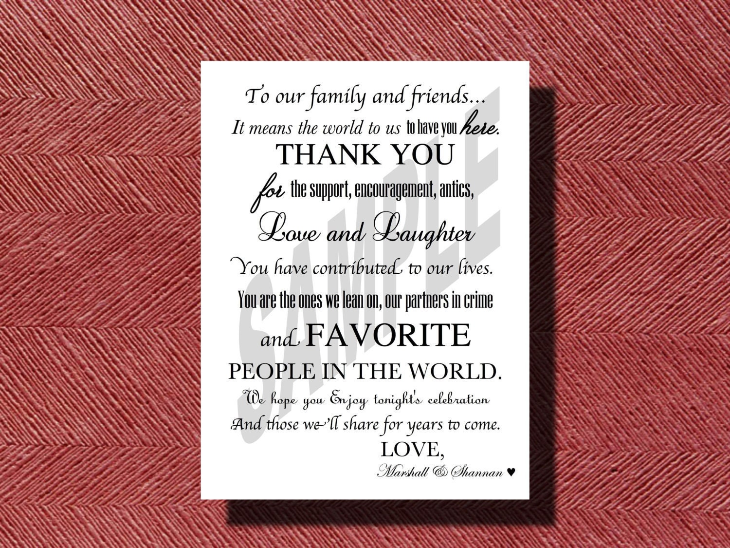 Wedding Day Thank You Cards, 50 Wedding Thank You Notes, Thank You ...