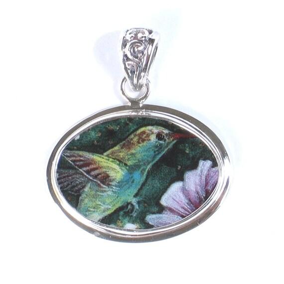 Broken_China_Jewelry_Hummingbird_Pendant_Sterling