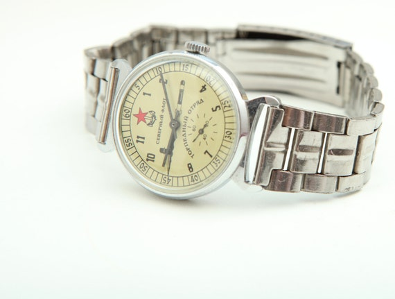 POBEDA- Soviet Russian - North Fleet Torpedo Squad - Wrist Watch Made in USSR