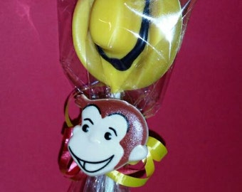 Curious George Chocolate Yellow hat Curious George party favor