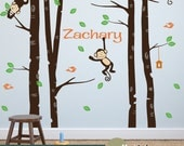 Tree Wall Decal - Great for Nursery Wall Decor or Playroom Decor for Kids - Includes Personalized Name WD0027
