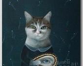 Cat illustration, Print, Animal Painting, Wall Decor, Wall hanging, Wall Art gift
