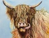 Humphrey- highland hero fine art print