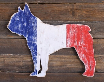 Tricolour French Bulldog Large Size Frenchie Wall Decor