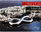 LOCKING Day Collar with Vanilla Converter - 316L Stainless Steel Infinity Link with Byzantine Chain - Made to Order