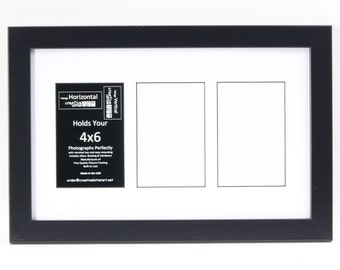 3 4 5 6 7 8 9 10 Opening Picture Frame with Collage Mat to hold 4x6 photographs for your Personalized Name, Wedding, Special Word or Collage