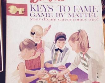 Vintage 1963 Barbie Keys to Fame Board Game by Mattel Complete Game Set