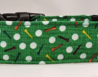 Dog Collar, Martingale Collar, Cat Collar - All Sizes - Tee It Up - Golf