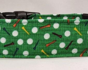 Dog Collar, Martingale Collar, Cat Collar - All Sizes - Tee It Up - Golf