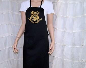 Harry Potter Hogwarts Crest Printed Hufflepuff Chef Apron MTCoffinz