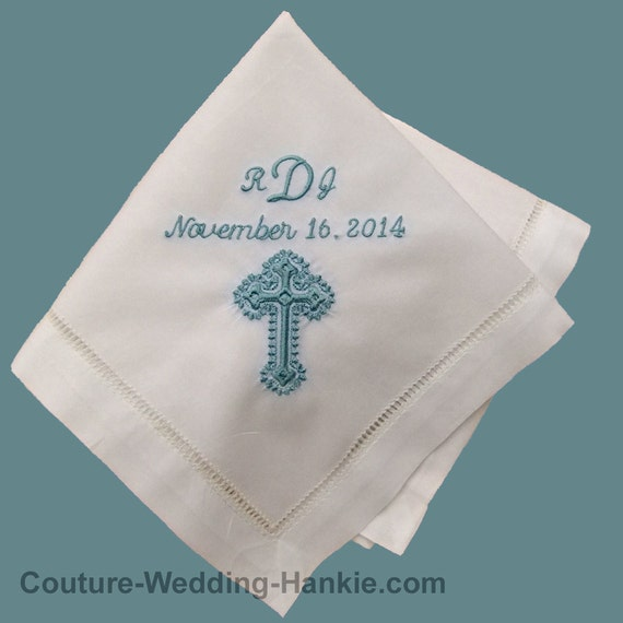 Baptism Gifts From Godparents | Baptism Handkerchief | Gift for Godchild