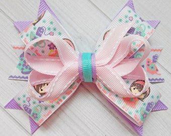 Girls Tea Party Bow, Tea Time, Tea for Two, Girls Tea Party Dress, Tea Bow, Tea Pot, Spring Bow, Tea Time, Dress Up Bow