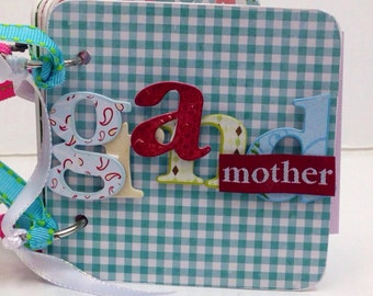 Grandmother scrapbook premade pages family mini album mother's day birthday