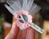 Pink and Black Wedding Favours | Flower seed wedding favors | Mini Wedding Favours | Seed Bomb Wedding Favors | Eco Friendly Favours