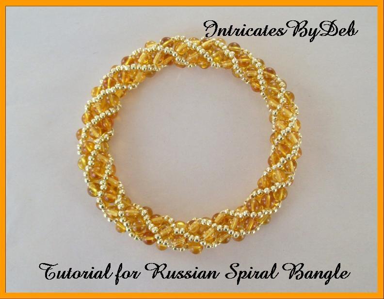 tutorial beaded twisty russian spiral bangle bracelet