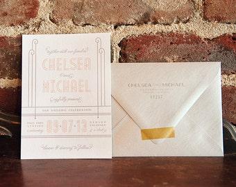 Vintage / Art Deco Wedding Invitation Suite