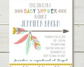 Tribal Shower Invitation GIRL