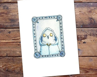Owl Druid Original Painting