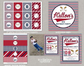 Baseball Birthday, Baseball Birthday Decorations, Baseball Party, Printable