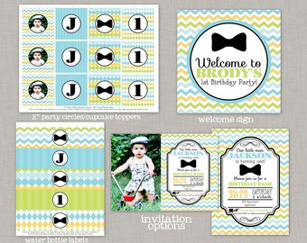 Bow Tie Birthday, Bow Tie Birthday Decorations, Bow Tie Party, Little Man Birthday, Printable