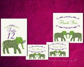 Reserved for LINDSAY - Personalized Place Card Design PDF Grand Elephant Wedding Decor Seating Sign Table Setting Favor Tag Escort Thank