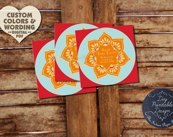 DIY Printable Save The Date Design Pdf LOTUS FLOWER Custom Wedding Invitation Suite Digital File Indian Asian Card Template Ready To Print