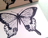 Mocker Swallow Tail Wood Mounted Rubber Stamp 1114V
