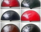 Man Fan Wood Folding Hand Fan 19cm Choose Color Made to Order
