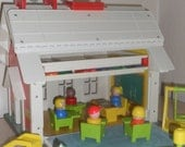 Vintage 1971 Fisher Price Play Family School