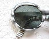 France vintage sunglasses black and white skinny stripes