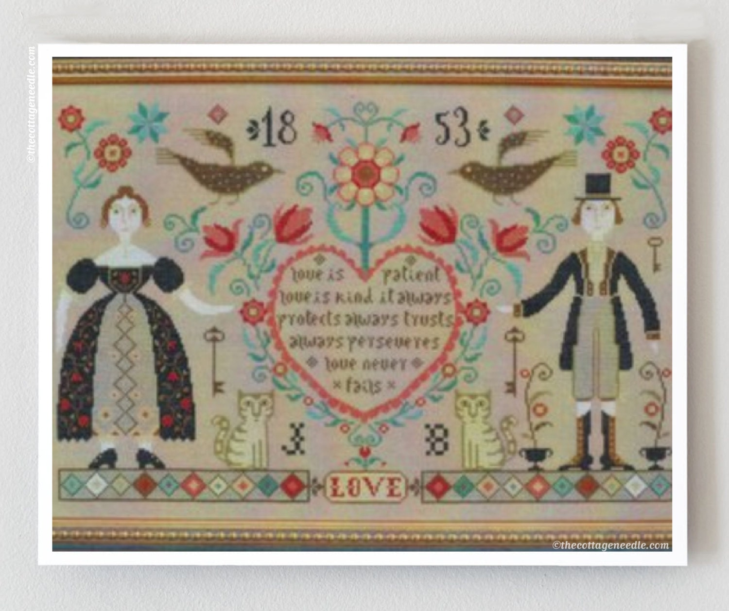 Cross stitch patterns love never fails by thecottageneedle