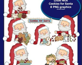 Little Nick Cookies for Santa 8 PNG graphics