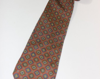 "vintage -Nazareno Gabrielli-  Men's neck tie. Medallion print Foulard Silk. Awesome...Perfect 3"" width. Made in Italy"