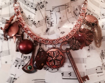 20 percent off...:Copper Charm Necklace