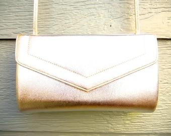 Vintage 50s 'Ande' Electric Silver Envelope Style Shoulder Bag