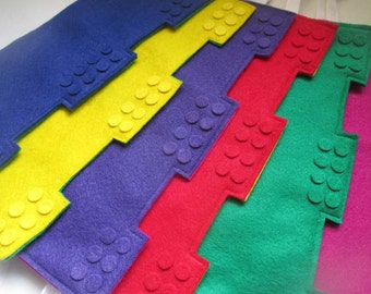 FREE crowns with Party Sets - Be the Kings and Queens of the Party! Lego ™ - like Felt Crowns - Made to order - Party Favors