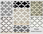 Custom Baby Crib Bedding- Design Your Own Modern Baby Bedding- Fynn Modern Neutrals I- gray