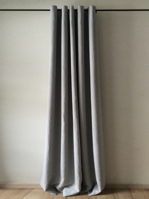 Blackout Linen Curtains Grommet Curtain Unlined Or Lined
