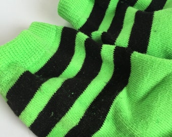 St Patrick's Day Green Baby Leg Warmers - Neon Green, lime green, Hand Dyed baby leg warmers