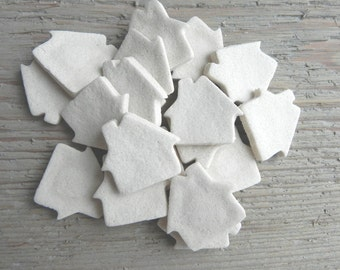 Wholesale  DIY Salt Dough Supplies Mini House Ornaments Set of 18