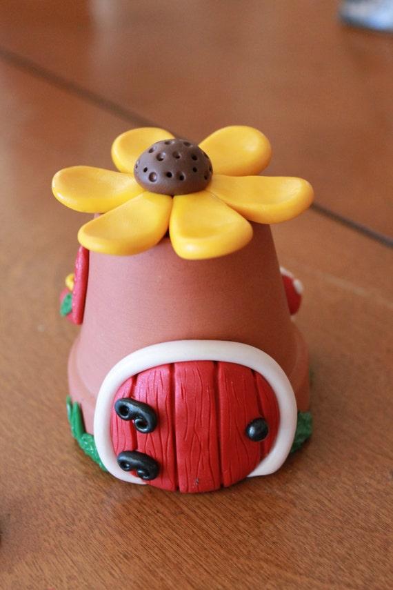 Gnome Garden: Fairy Garden Kit Polymer Clay Fairy Garden House By GnomeWoods