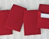 36+ teeny tiny envelope note card sets handmade crimson red ruby slipper miniature square party favor weddings stationery guest book